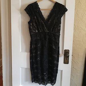 JS Collections Black Cocktail Dress